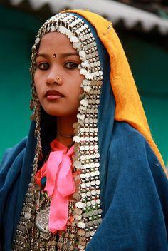 Nepal | young Rana Tharu woman.