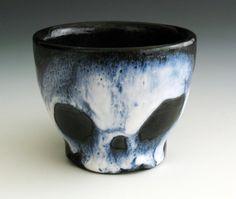 Ghostly Skull Teacup