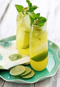 Pineapple Limeade Cooler - by itself or with a splash of your favorite ...
