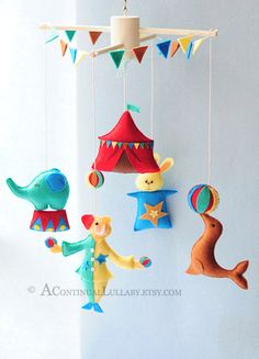 Circus Mobile $110.00, via Etsy.