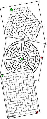 6,000 printable mazes