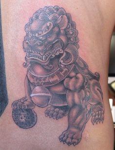 tatuagem de Foo Dog