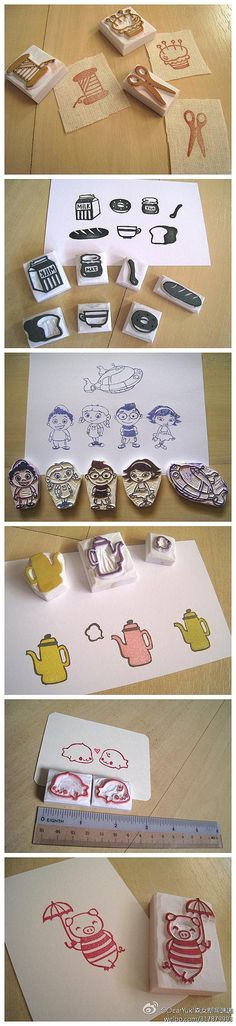 rubber stamp DIY http://www.fun-stuff-to-do.com/easy-crafts-for-kids-12.html