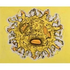 Carroll Dunham, The Sun, 2000, inkjet with intaglio, Dallas Museum of Art, gift of Ken Raboy and Samuel J. Athas