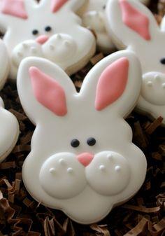 Happy Easter Bunny Cookie