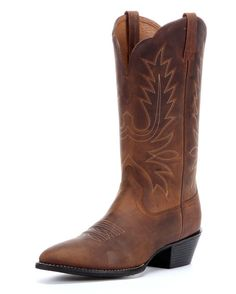 Ariat Women's Heritage Western R Toe Cowgirl Boots - Distressed Brown  http://www.countryoutfitter.com/products/27875-womens-heritage-western-r-toe-boot-distressed-brown