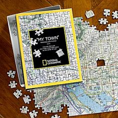 National Geographic ''My Town'' Custom Map Puzzle