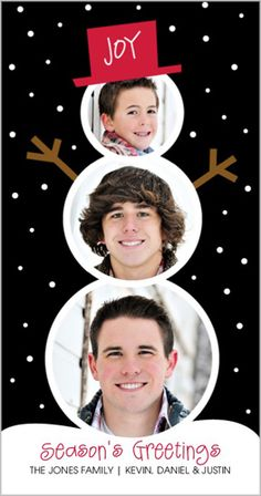 Snowman Memories Holiday Card...this would also make a fabulous Scrapbooking Page design!  Love it!
