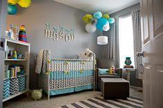 Gray and Blue Chevron Nursery - Project Nursery