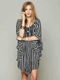Free People Knit Stripe Doily Dress