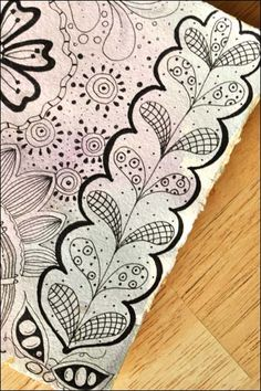 Card To Post On Pinterest Postcards Zentangle And Doodles