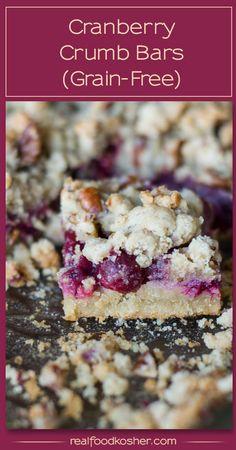 Cranberry Crumb Bars (Grain free)