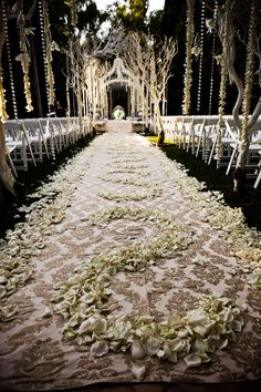 Ok if you guys can get me access to your fav flowers to where we can do an aisle of solid... what about a design on them in blue white silver or black rose petals on top? Also think of an alternative to these if we cant make that actually work.