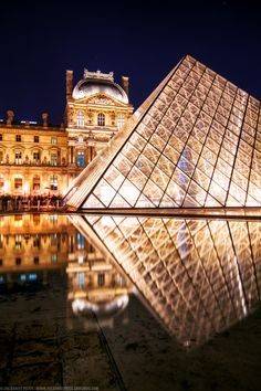 Night at the Louvre, Paris, France