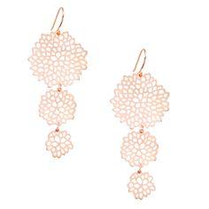 chloe + isabel cascading pom pom earrings $28