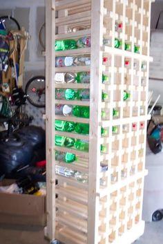 Survival Forums SHTF Preparedness - 2 Liter bottle storage rack