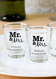 Make a toast with these personalized shot glasses - perfect for weddings, showers, and birthdays!