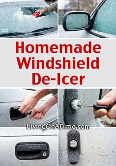 2 Ingredient Homemade Windshield De-Icer Recipes