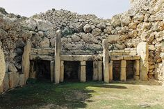 High on a hill on the island of Gozo, is the Stone Age Ggantija prehistoric temple complex. Constructed from 3,600-3,000 BC, the Ggantija temples are the earliest of a series of megalithic temples in Malta, pre-dating Egypt's pyramids and Britain's Stonehenge by over a 1,000 years. This megalithic monument is in fact two temples, built side by side and enclosed within a boundary wall. The temples on Malta are the oldest temples in Europe.