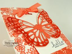 New! coming January 2015 - Butterfly Thinlits from Stampin' Up! in the 2015 Occasions catalog! Handmade card by Patty Bennett