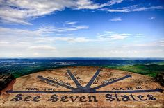 """Seven States / """"Rock City"""" in Chattanooga, Tennessee. From this location you can overlook 7 States."""