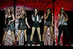 All together now. The girls of Fifth Harmony harmonize during a performance on Feb. 25 in Sunrise, Fla.