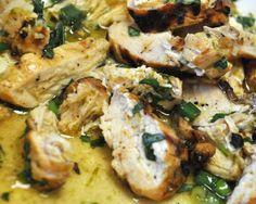 Basil Lime Chicken- Probably the best chicken I've ever made. Such a good recipe!