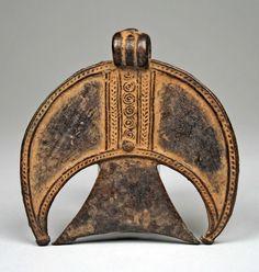 Africa | Protective Pendant (Sabi na fre) from the Nuna culture, Black Volta River region, Burkina Faso | Copper alloy | 19th - 20th century