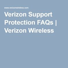 support verizon faqs