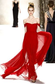 red gown, perfect