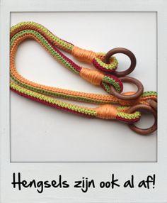 Crocheted handles