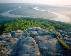Lookout Mountain - Chattanooga, Tennessee overlooking the bend of the Tennessee River.