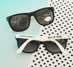 Personalized Sunglasses Favors by Glitter Daisy Shop