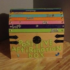 """I like to close my counseling sessions with my kids choosing a positive affirmation from the """"positive affirmations box"""""""