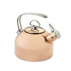 Love it ! I've been drinking lots of tea lately with IC issue. Chantal Copper Whistling Tea Kettle #williamssonoma