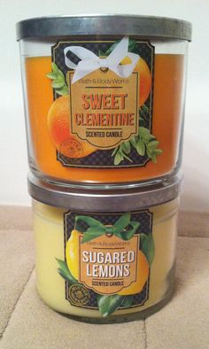 New holiday Bath and Body Works candles!
