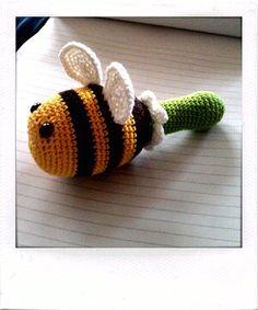 Crochet Bee Rattle.
