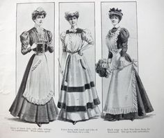 Fashion suggestions for your 'domestic help' uniforms, The Girl's Own Paper, 1902-1906, via thedreamstress.com.