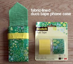 Duct tape & fabric phone case