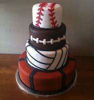 #Sports Cake for Birthday Party or Baby Shower
