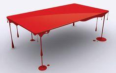 """Paint or Die but Love me"" table !  Love it !"