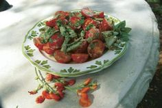 Green Bean and Cherry Tomato Salad. http://www.vegetablegardener.com/item/3529/green-bean-and-cherry-tomato-salad