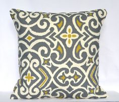 Why Are Throw Pillows So Expensive : GREY & YELLOW on Pinterest Yellow, Gray Yellow and Gray