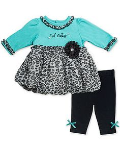 Guess Baby Set Baby Girls Leopard Print Hoo and Pants