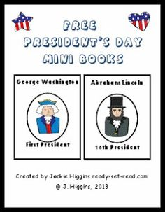 Free Presidents' Day mini-book printables about George Washington and Abraham Lincoln #freebies