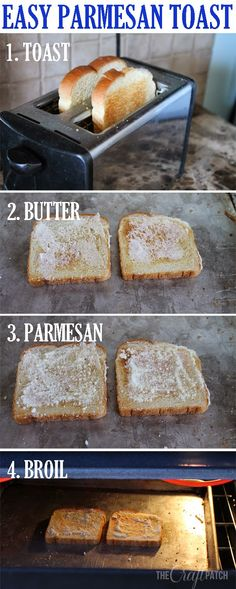Parmesan toast... the perfect side when you don't have time for homemade bread or rolls.