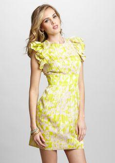 On ideeli: JESSICA SIMPSON Printed Flutter Sleeve Dress