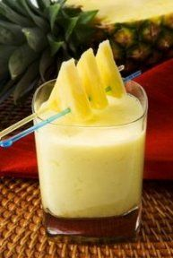 Sunny Hawaiian Smoothie (1 c. orange juice 1 can of crushed pineapple with juice 2 med. bananas 2 tsp. sugar 1 carton plain, vanilla or coconut yogurt)