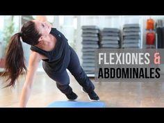 Rutina de flexiones y abdominales.