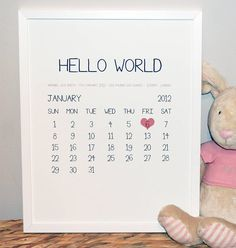 Printable DIY Baby Birth Stats 8x10 Newborn Personalized Custom Girl Art Prin